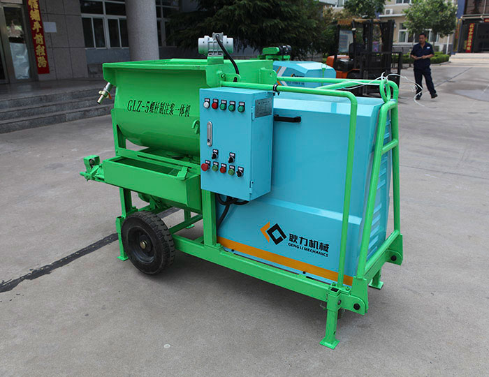 GLZ-5 Screw pulping and grouting machine