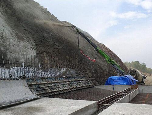 Wet Hydraulic Shot-Crete Machine for Copper Mine Tunnel in Machine
