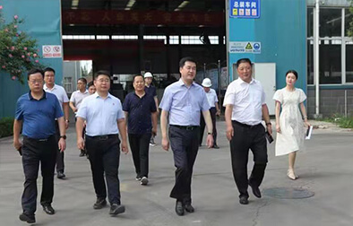 Wei Xianfeng, Deputy Mayor of Luoyang City, visited Gengli Machinery for investigation